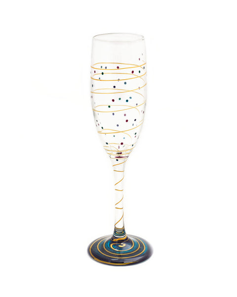 Mindy Sands Rainbow 6oz Crystal Champagne Glass