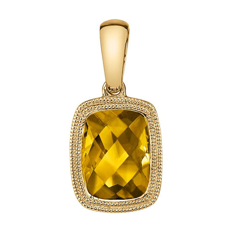 Yellow Gold Citrine Pendant