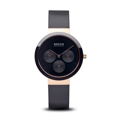 Black Ceramic Polished Rose Gold Watch