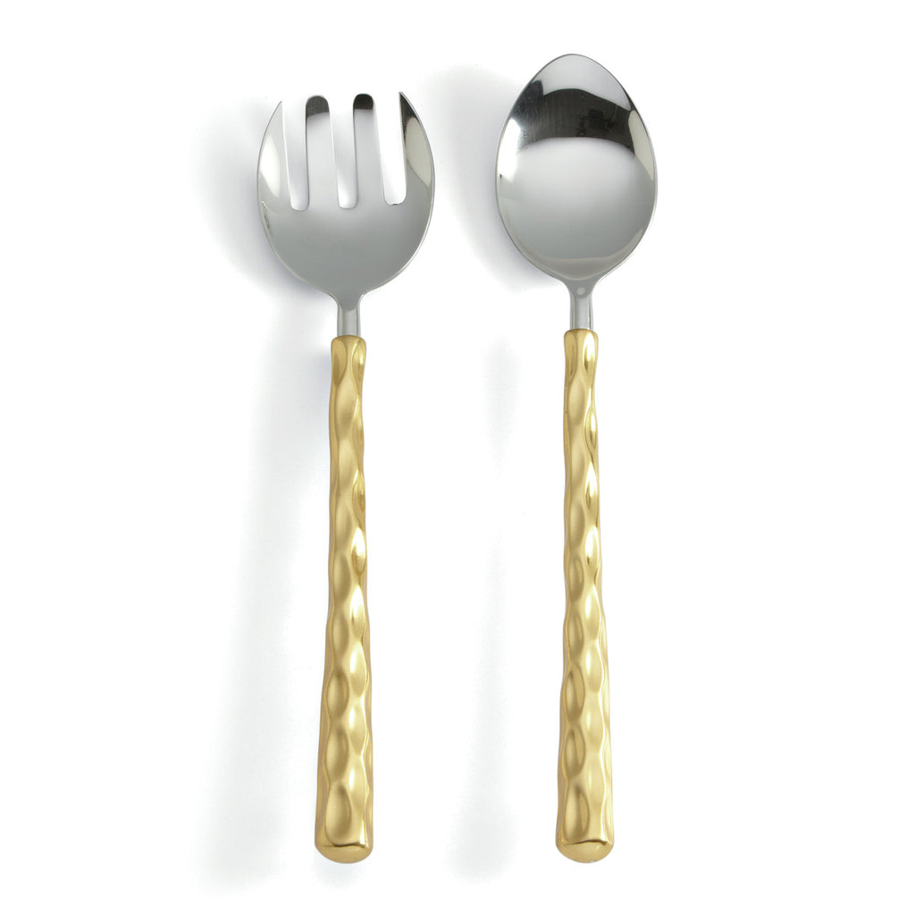 Truro Gold Salad Servers