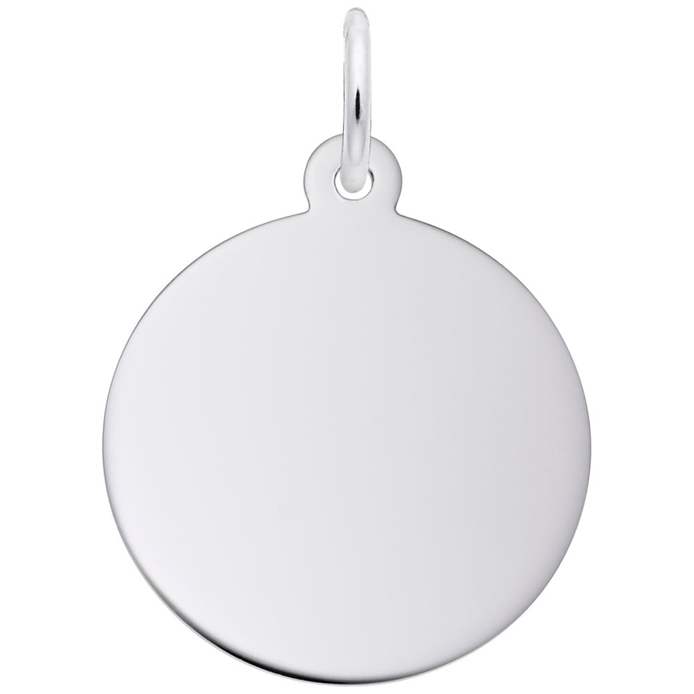 Small Round Disc Charm - Silverscape Designs