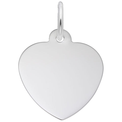 Rembrandt Charms Sterling Silver Classic Heart Charm