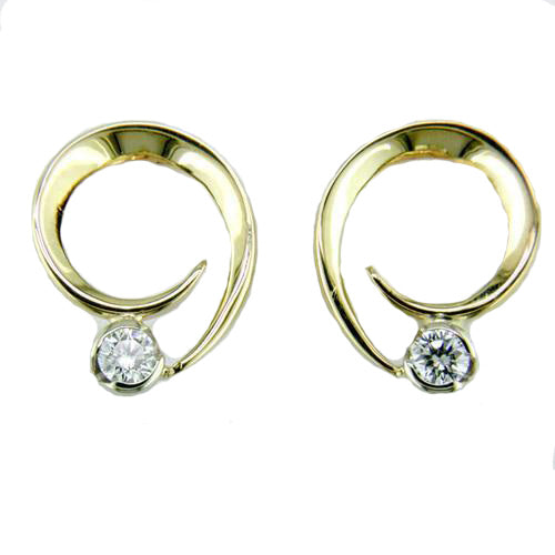 Diamond Curl Earrings