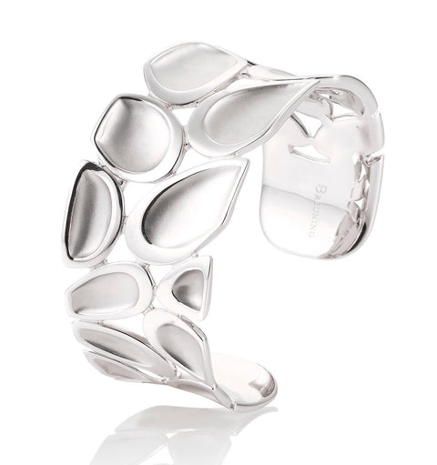 Sterling Silver Pebble Cuff