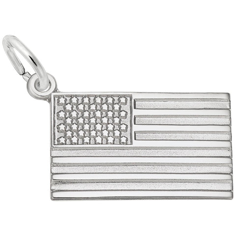 American Flag Charm - Silverscape Designs