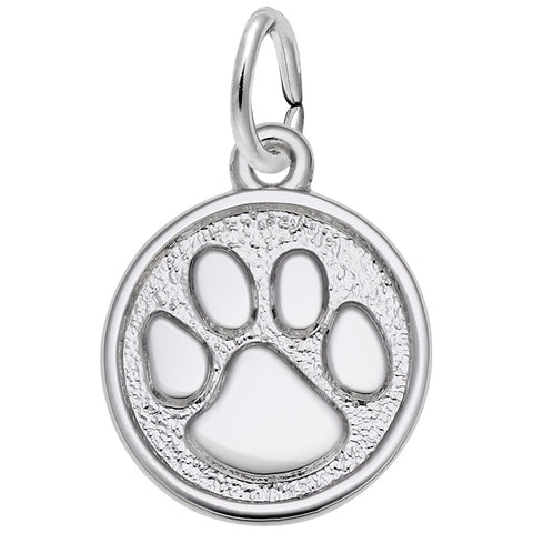 Rembrandt Charms Sterling Silver Paw Print Charm