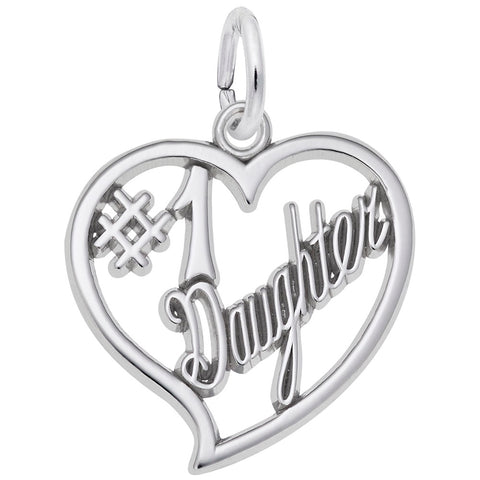 Number One Daughter Charm - Silverscape Designs