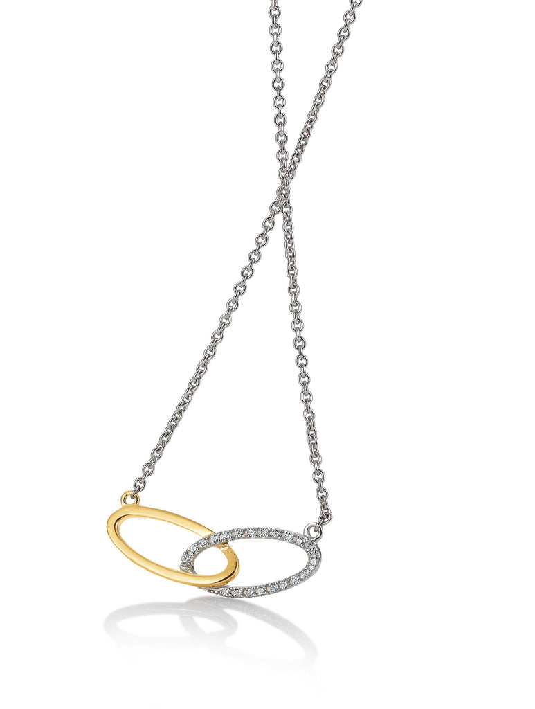 Interlacing Oval Necklace - Silverscape Designs