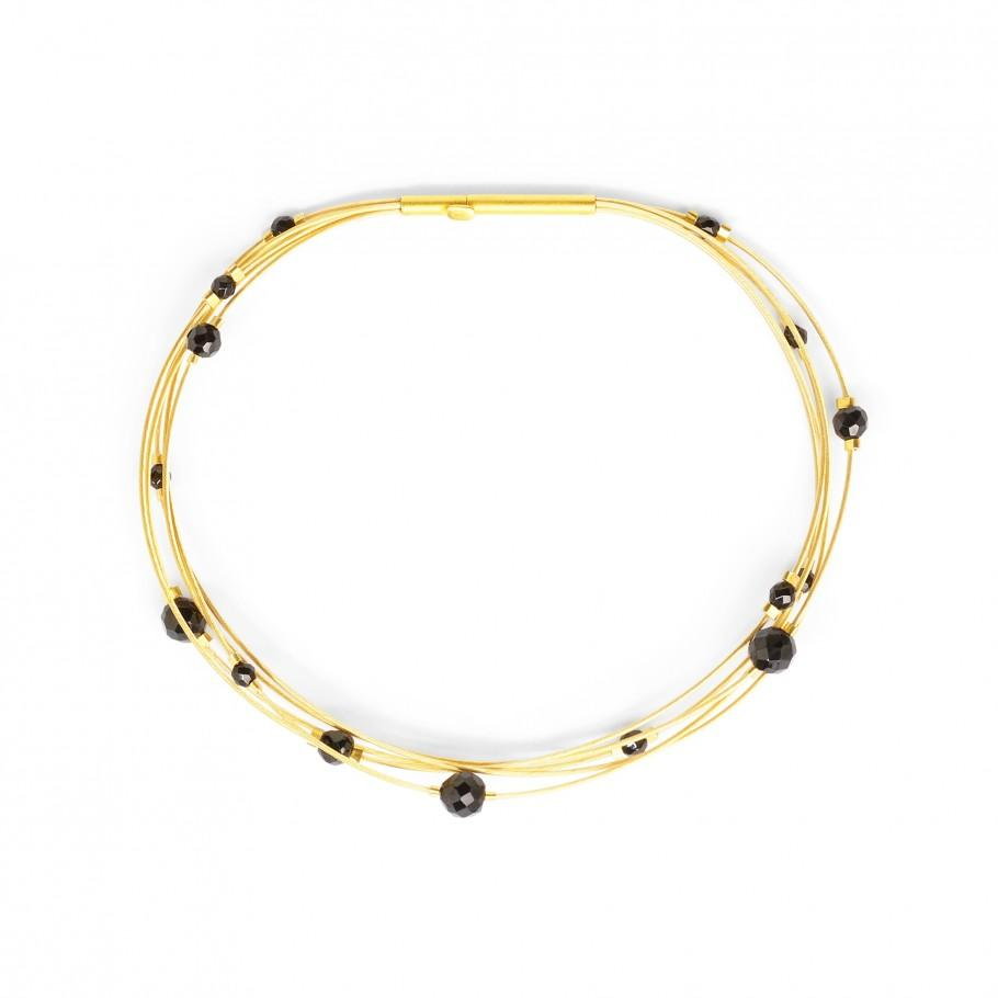 Black Spinel Fasina Bangle