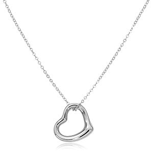 Sterling Silver Open Heart Necklace by Carla Corporation