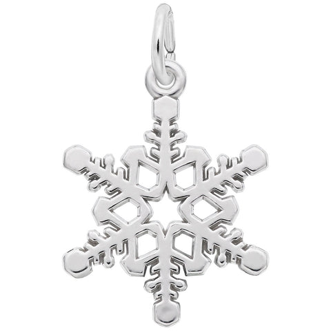 Rembrandt Charms Sterling Silver Snowflake Charm