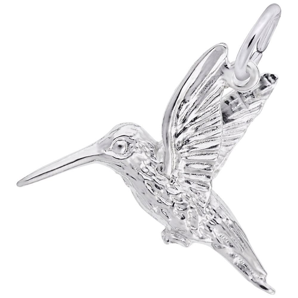Hummingbird Charm - Silverscape Designs