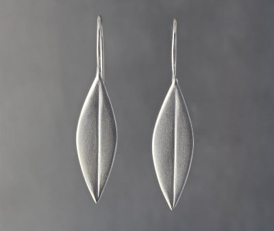 Sterling Silver Single Olive Leaf Earrings