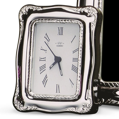 Cunill Silver 2.5x3.5 Rope Clock - Silverscape Designs