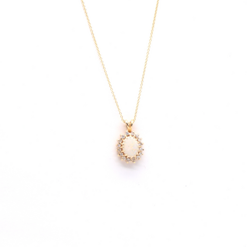 Estate White Opal Necklace
