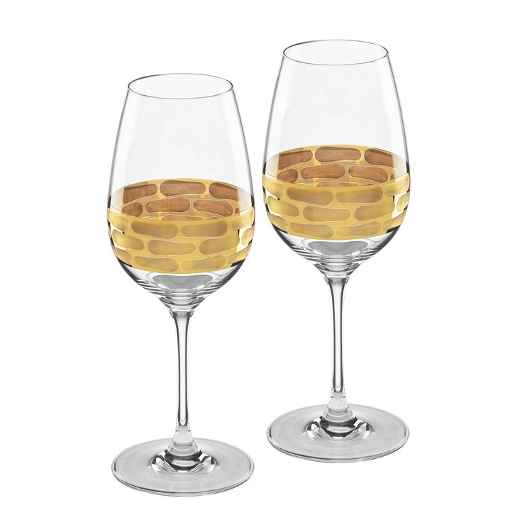 Truro Gold White Wine Glasses - Silverscape Designs