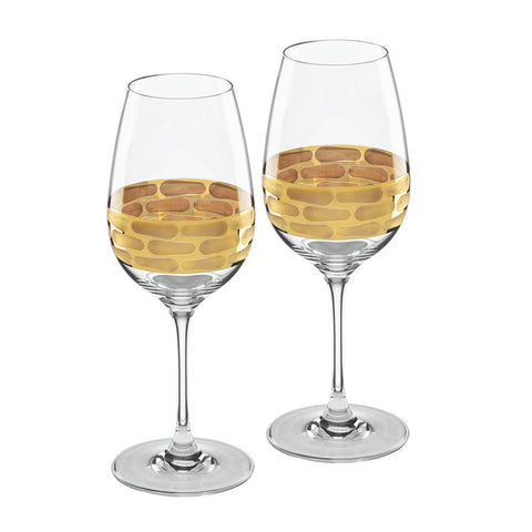 Michael Wainwright Truro Gold White Wine Glasses Set