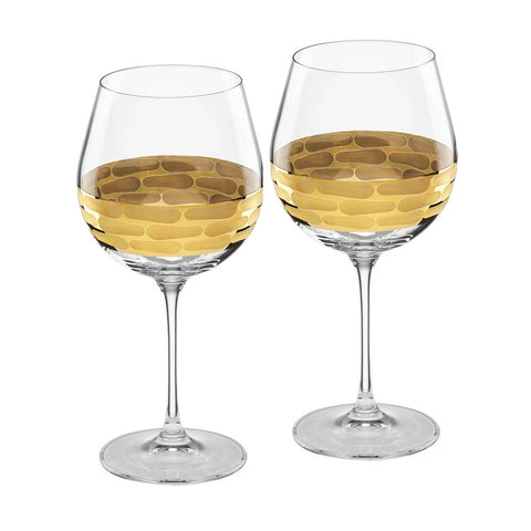 Truro Gold Red Wine Glasses - Silverscape Designs