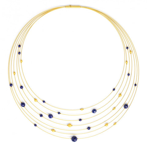 Orbitto Lapis Lazuli Collar Necklace - Silverscape Designs