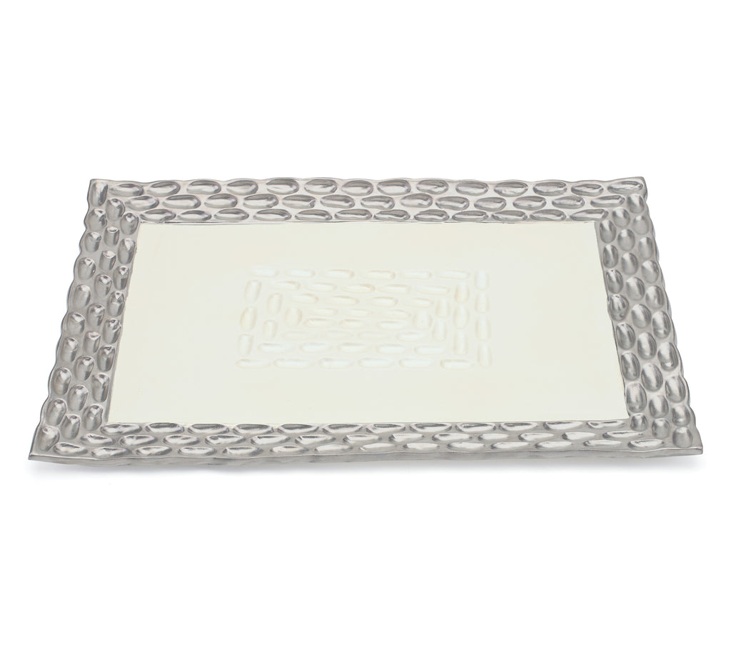 Truro Platinum Rectangle Tray - Silverscape Designs