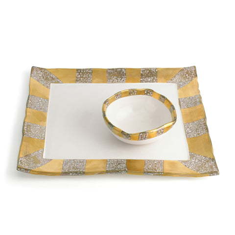 Tempio Luna Sq. Tray and Bowl