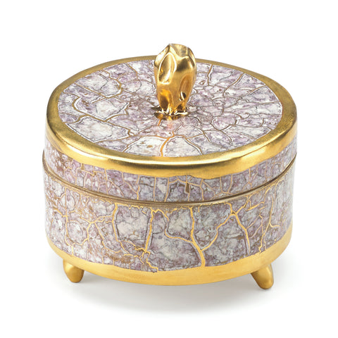 Tempio Luna Gold Trinket Box