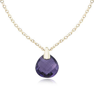 Carla Briolette Amethyst Checker Necklace