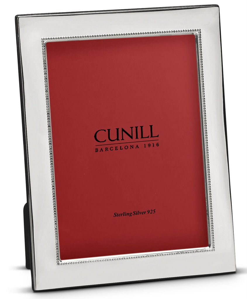 Cunill Silver 8x10 Wide Beaded Picture Frame - Silverscape Designs