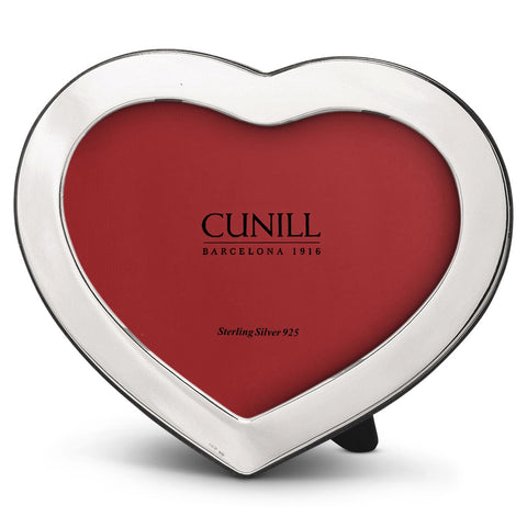 Cunill Silver 4x6 Heart Shaped Picture Frame - Silverscape Designs