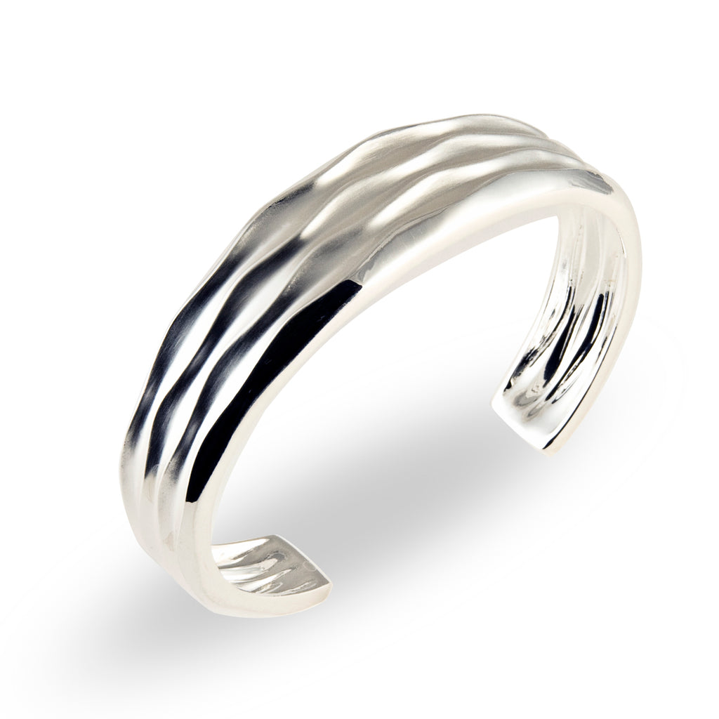 Thin Tapered Cuff - Silverscape Designs