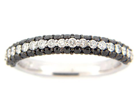 Black & White Diamond Band - Silverscape Designs