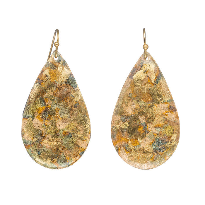 Evocateur Confetti Medium Teardrop Earrings