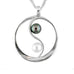 Tom Kruskal Sterling Silver and Pearl Yin Yang Pendant