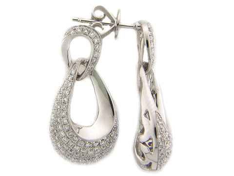 Gold Diamond Drop Earrings - Silverscape Designs