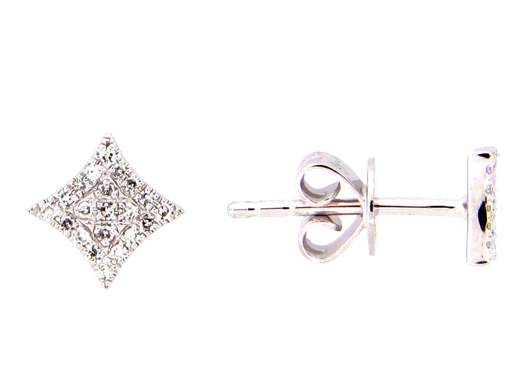 14 Karat Gold Diamond Studs - Silverscape Designs