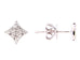 Dilamani 14k White Gold Diamond Stud Earrings