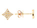 14 Karat Gold Diamond Studs