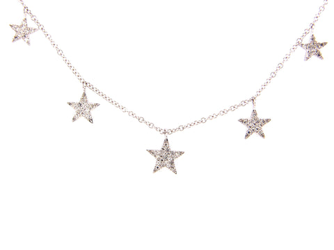 Diamond Five Star Necklace - Silverscape Designs