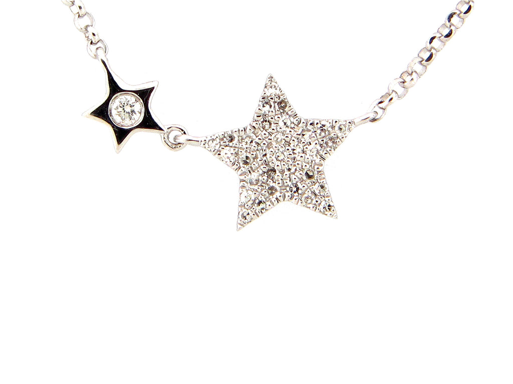 Diamond Mother and Child Star Necklace - Silverscape Designs