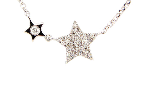 Diamond Mother and Child Star Necklace