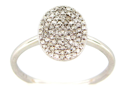 Diamond Oval Ring - Silverscape Designs