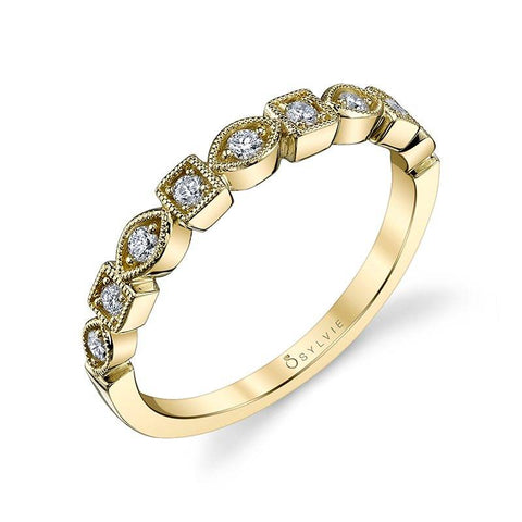 Modern Yellow Gold Stackable Wedding Band - Silverscape Designs