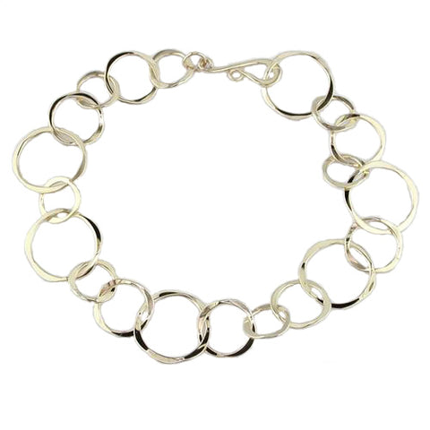 Circle Linked Bracelet - Silverscape Designs