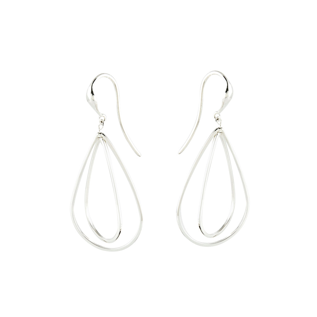 Small Pear Wires Dangle Earrings - Silverscape Designs