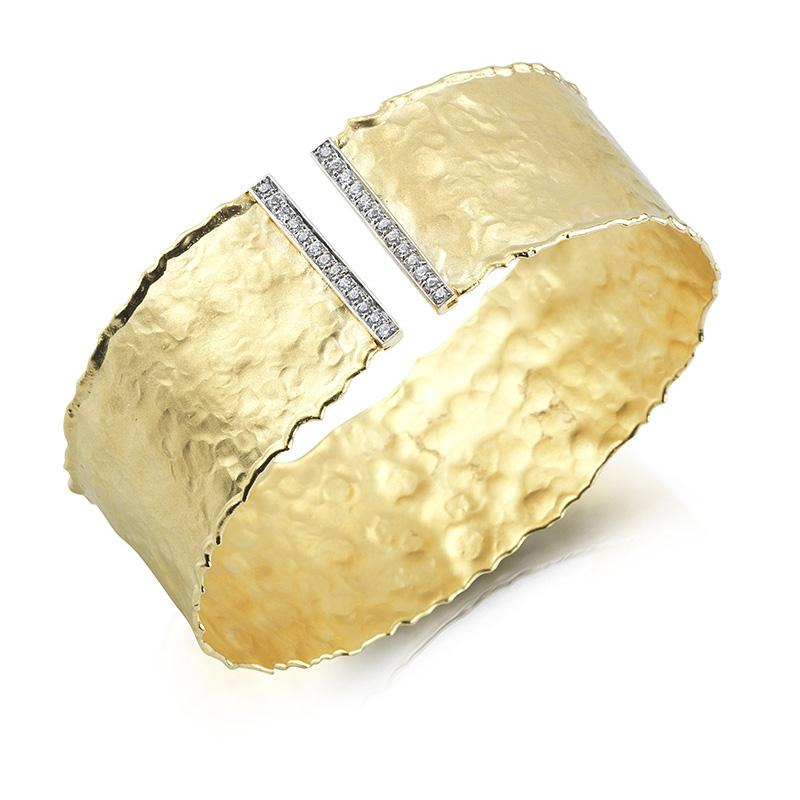 Yellow Gold Gallery Cuff - Silverscape Designs
