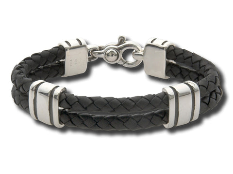 Leather Stratus Bracelet - Silverscape Designs