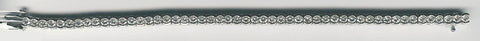 Diamond Tennis Bracelet in White Gold - Silverscape Designs