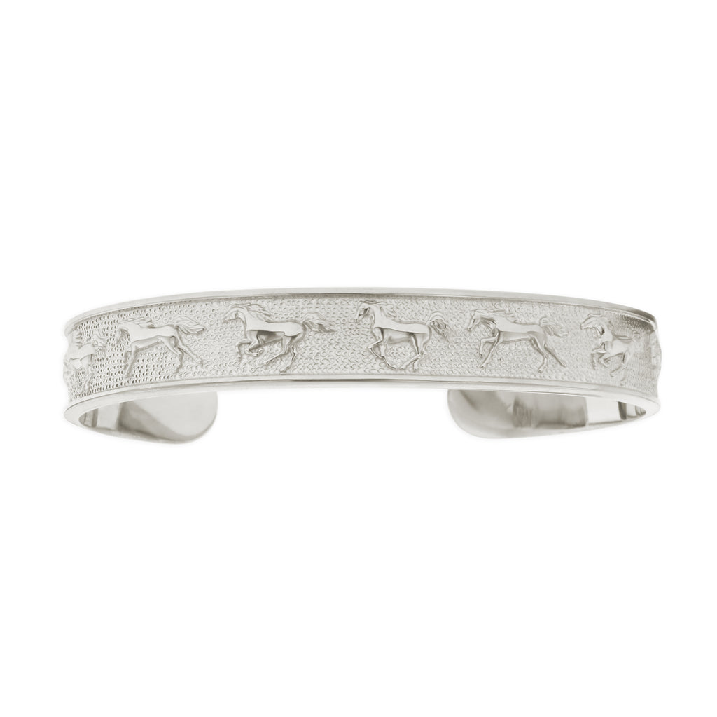 The sterling silver 11 Horse Bracelet by Kabana