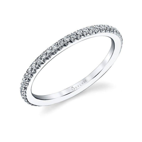 Classic Diamond White Gold Wedding Band - Silverscape Designs