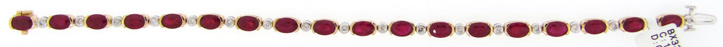 Ruby and Diamond Bracelet in Yellow Gold - Silverscape Designs